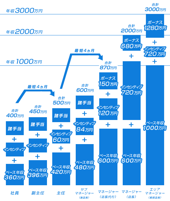 収入例昇給グラフ