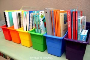 homeschool-book-organizer-bins